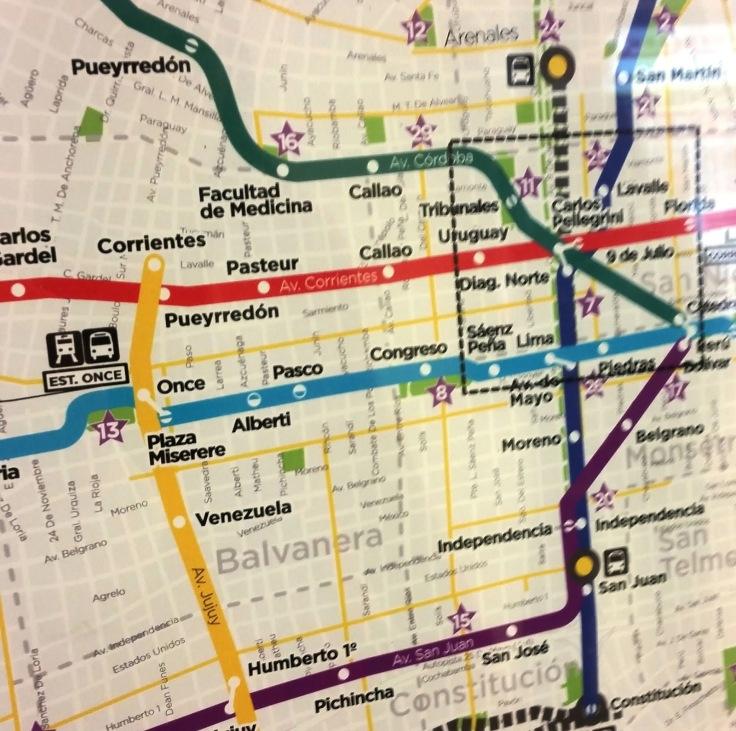mapa metro
