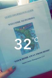 Caderninho de Boas Vindas a Florida.